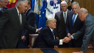 President Trump takes on the Iran deal and health care