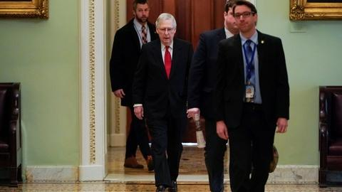 PBS NewsHour -- Senate amends impeachment trial rules, defers on witnesses
