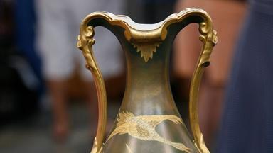 Appraisal: Ott & Brewer American Belleek Vase, ca. 1880