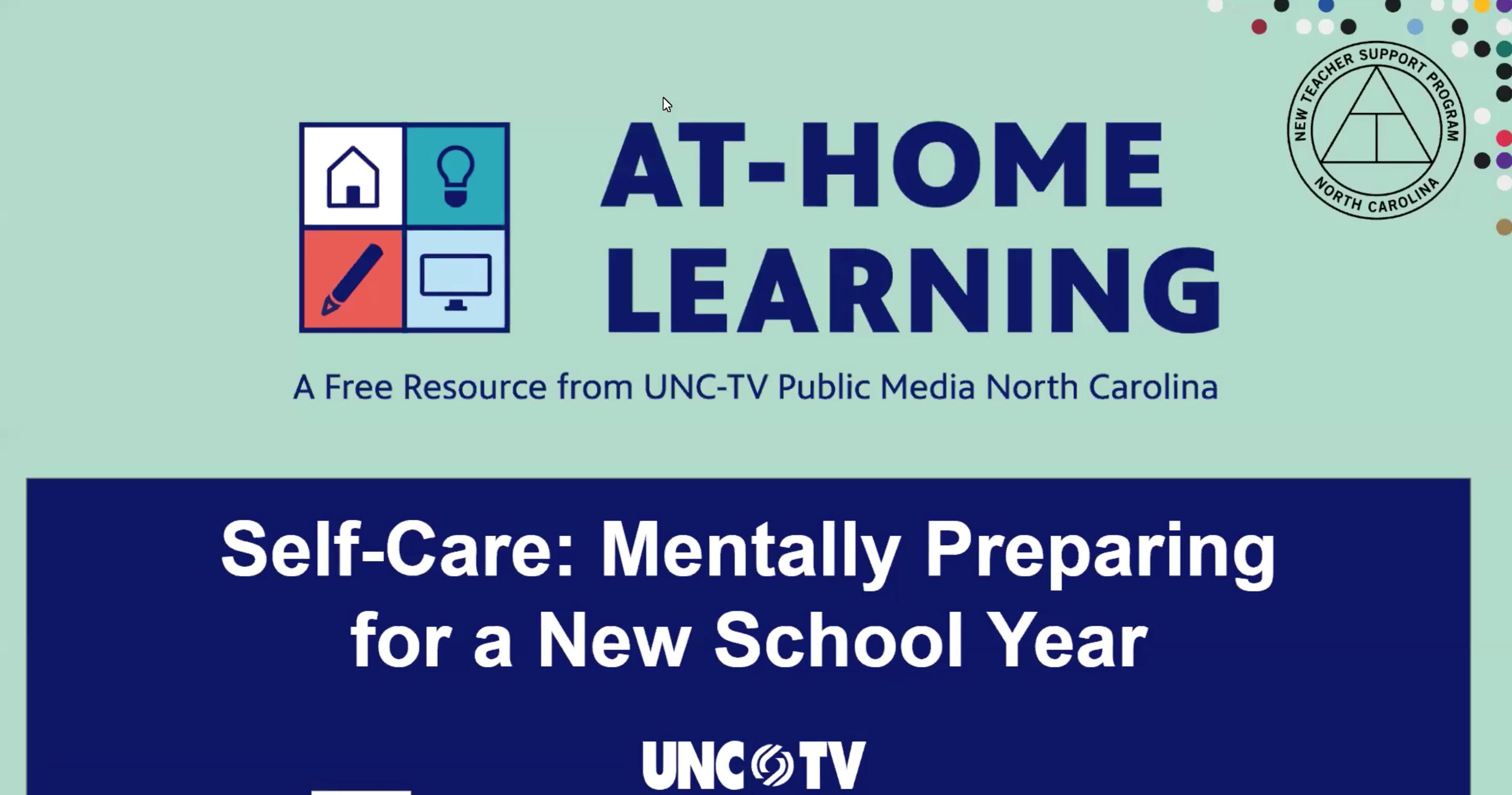 AHL Webinar: Self-Care (Preparing for a New School
