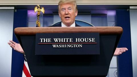 Trump defends his initial pandemic response amid criticism