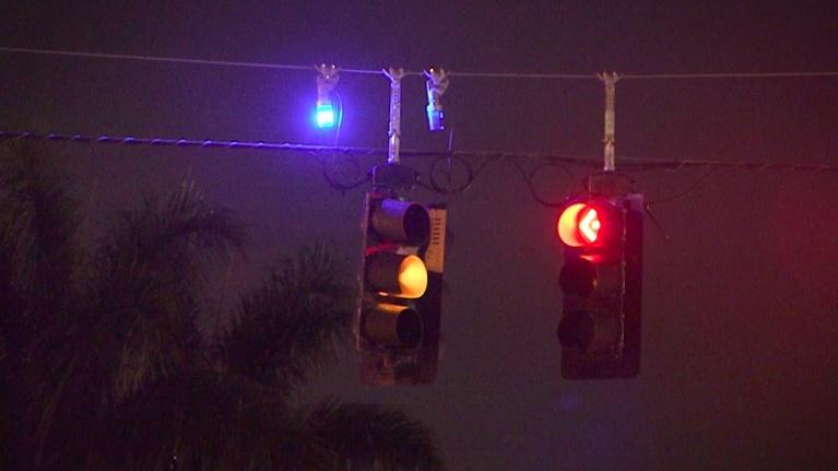 Curious Gulf Coast: Blue Light Above Traffic Signals