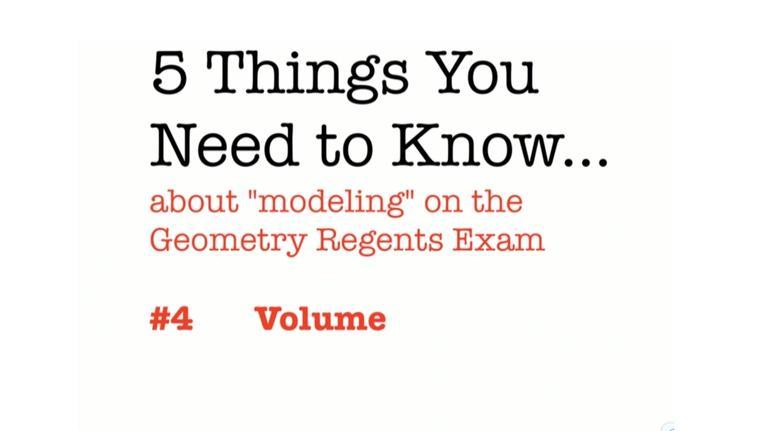 Regents Review: CC Geometry Volume