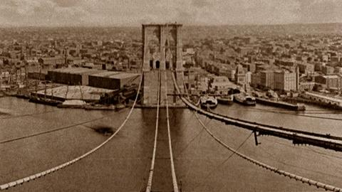 Brooklyn Bridge -- Construction of the Brooklyn Bridge