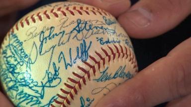 Appraisal: Dwight D. Eisenhower-signed Baseball, ca. 1956