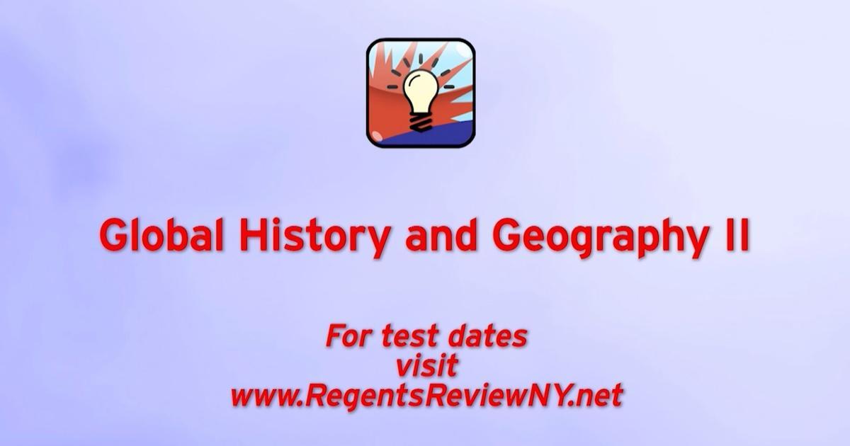 Global History And Geography II Season 2019 Episode 1