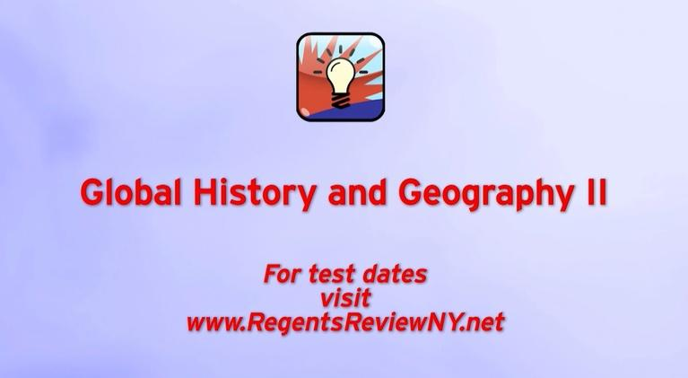 Regents Review: Global History and Geography II