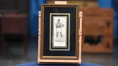 Appraisal: 1964 Cassius Clay Twice-signed Promotional Print