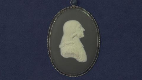 Antiques Roadshow -- Appraisal: 1884 John Wesley Wedgewood Jasperware Plauqe
