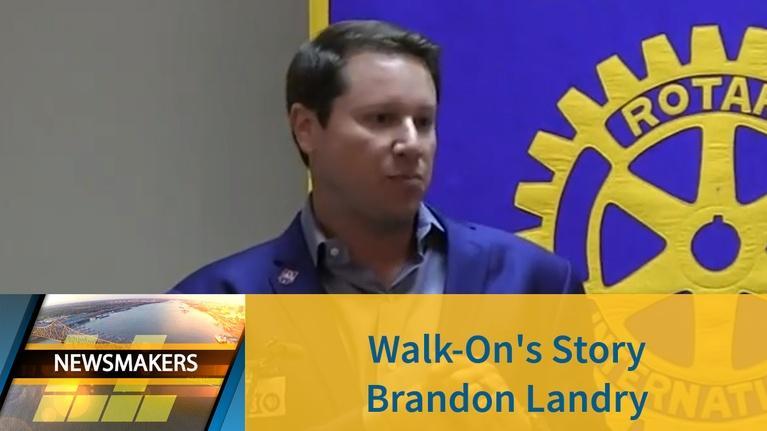 Newsmakers: Walk-On's Story | Brandon Landry | 03/13/19 | Newsmakers