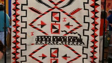 Appraisal: Navajo Transitional Pictorial Weaving, ca. 1890