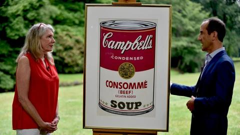 Antiques Roadshow -- Appraisal: 1968 Warhol Campbell's Soup Can Screenprint