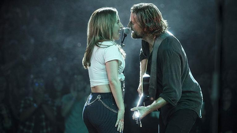 "Flicks: Lady Gaga and Bradley Cooper for ""A Star is Born"""