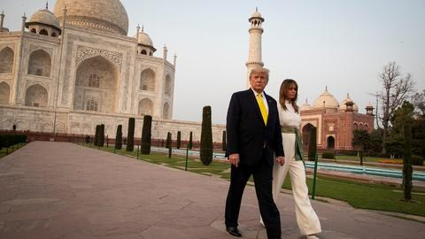 Trump's India visit prompts both hero's welcome and protests