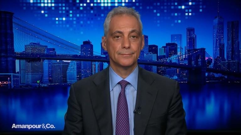 Amanpour and Company: Rahm Emanuel's Opinions on Bloomberg and Sanders