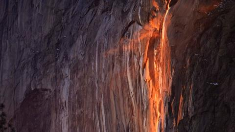 Yosemite 'firefall' slows to a trickle amid drought