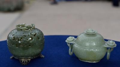 Appraisal: Chinese Jade Pomander & Censer