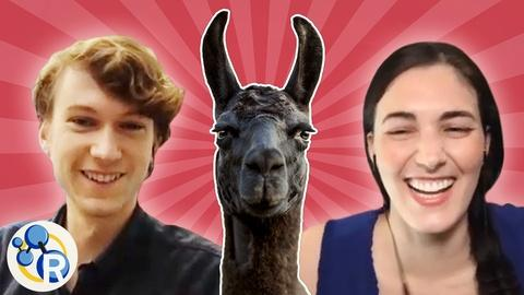 Reactions -- We Surprised a Llama Antibody Researcher with a Llama