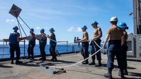 U.S. Navy says it won't evacuate ship with infected sailors