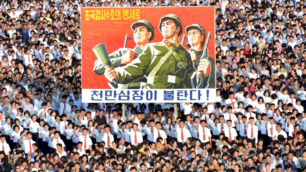 What's the view of U.S. tensions from Pyongyang? image