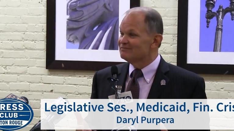 Press Club: Legislation, Medicare, Financial Crisis | Daryl Purpera