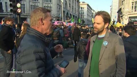 Amanpour and Company -- Michael Holmes & Rupert Read on the Protests in London