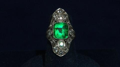 Antiques Roadshow -- S21 Ep16: Appraisal: Art Deco Emerald & Diamond Ring