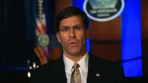 """Amanpour and Company -- Mark Esper: """"We Are Not Looking to Start a War with Iran"""""""