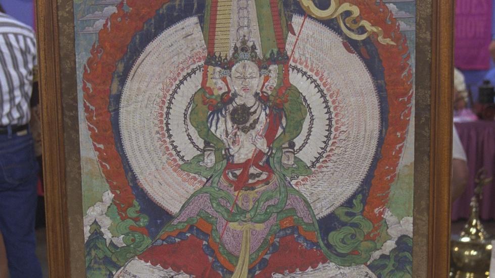 S21 Ep25: Appraisal: Tibetan Tangka, ca. 1750 image
