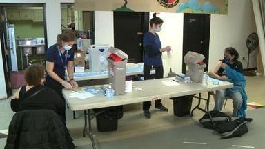 Lenape people receive COVID-19 vaccines at clinic