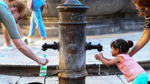 PBS NewsHour -- Starved by drought, can Rome's water supply spring eternal?