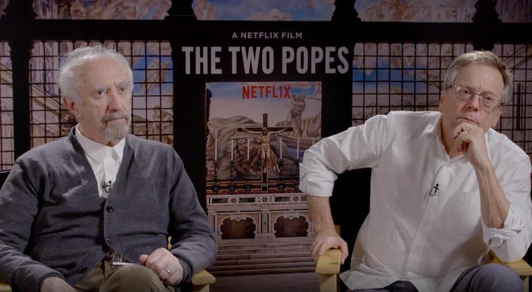 "Flicks: Jonathan Pryce & Fernando Meirelles for ""The Two Popes"""
