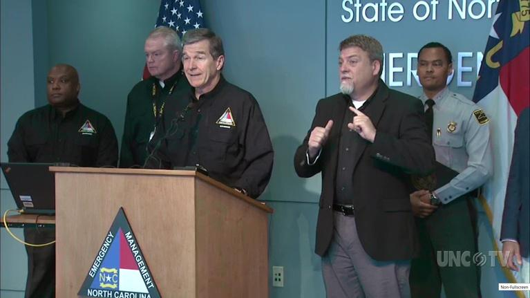 NC Emergency Management and Weather: NC Gov. R. Cooper: Snow Briefing: 10:30 AM 12/11/18