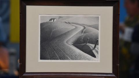 "Antiques Roadshow -- S21 Ep16: Appraisal: 1941 Grant Wood ""March"" Lithograph"