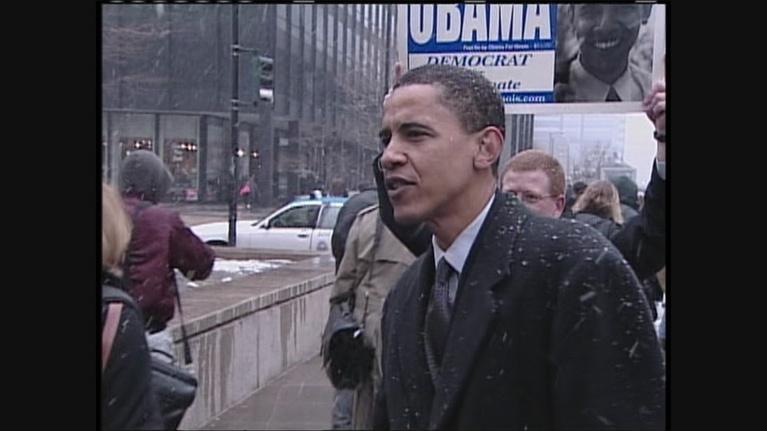 Chicago Tonight: Web Extra: Elizabeth Brackett Reports on Barack Obama