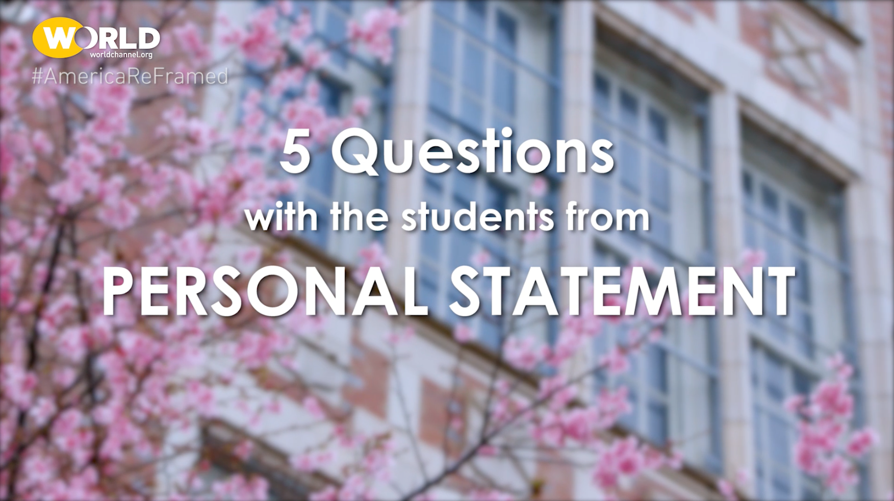 America Reframed Personal Statement 5 Question With Enoch Karoline Season 6 Episode 14 Pbs