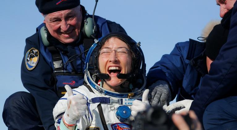 PBS NewsHour: Astronaut Christina Koch on a year without gravity