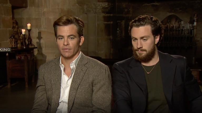 "Flicks: Aaron Taylor Johnson and Chris Pine for ""The Outlaw King"""