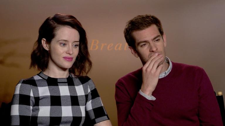 """Flicks: Claire Foy and Andrew Garfield for """"Breathe"""""""