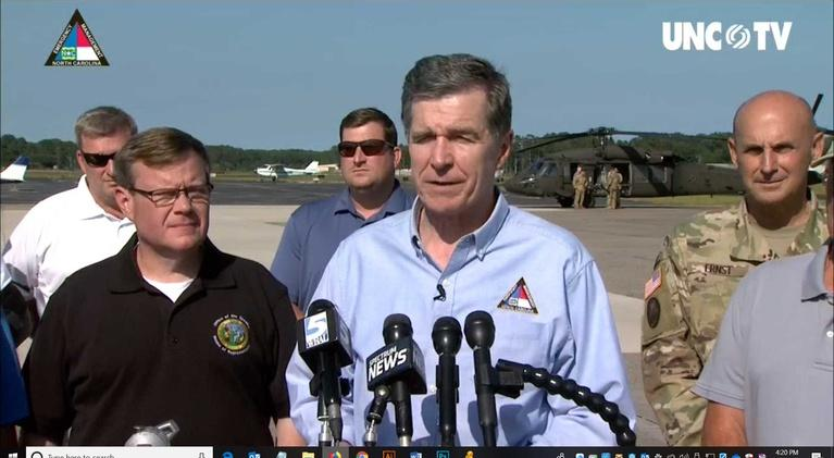 NC Emergency Management and Weather: NC Gov. Cooper: Weather Briefing 4:15 PM 09/07/19