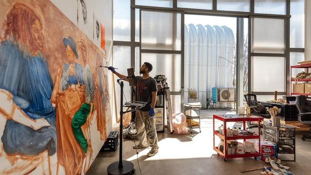 Artist Mario Moore enshrines Black Americans' presence