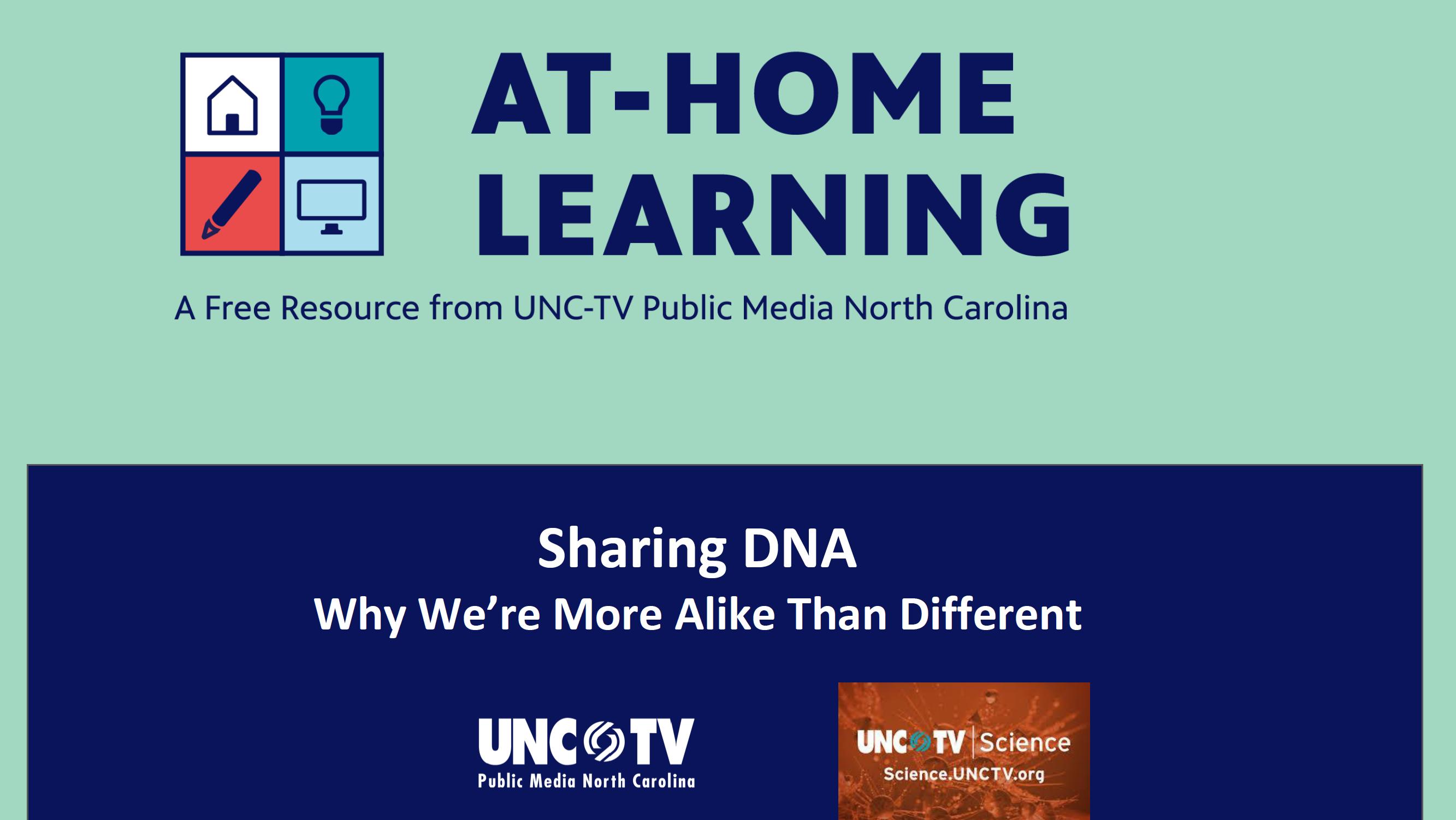 AHL Webinar: Sharing DNA (featuring UNC-TV Science