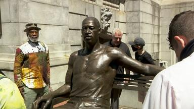 Statue of George Floyd unveiled in Newark