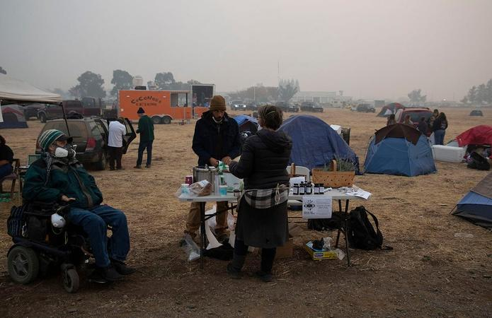 Paradise Wildfire: Fleeing to Shelters for Health Care